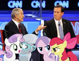 The Fillies With Ron Paul And Rick Santorum by RicRobinCagnaan