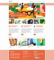 Jetro Creative PSD Theme by bestpsdfreebies