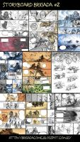 Brigada#2 Storyboard at half way. by EnriqueFernandez