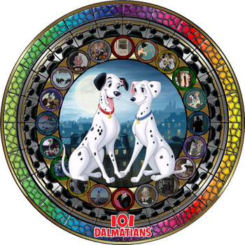 Masterpiece 101 Dalmatians Stained Glass by Maleficent84