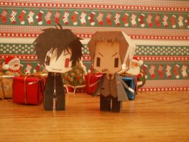 Merry Christmas and happy New Years_Shinrei Tantei by MyLovelyBlueEyes