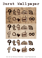Burnt Wallpaper Social Icons by beyourpet.com by beyourpet