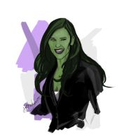 She-Hulk by nottonyharrison