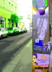 Street with rock posters by MushroomBrain