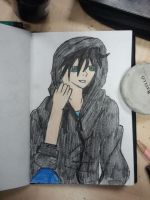 person wearing a hoodie nr 2 by izzy3301