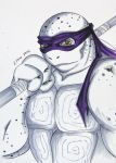 Donatello grayscale by CelestialShadow19