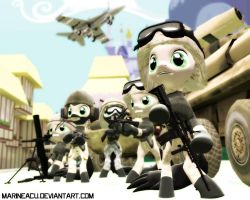 MLP OC and BF3: Marines deploying by MarineACU