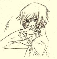 sketch of Lelouch Lamperouge by Pierpyx