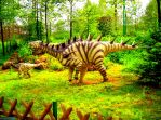Dinosaur in the wild forest by MannyDiax