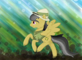 Daring Do Has Gotta Go Fast! by Alouncara