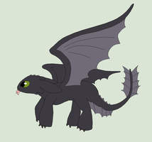 HTTYD Base 59~Nightfury 43~ by Xbox-DS-Gameboy