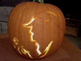 Beauty and the Beast Pumpkin by PinkPenguino