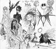 Tim  Burton  mind by DemonCartoonist