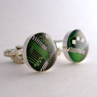 Gorgeous Circuit Board Cufflinks by Techcycle