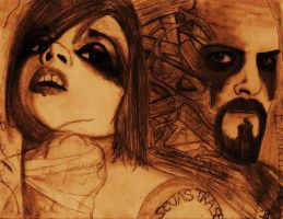 Otep and Evil J by spongy-tweety