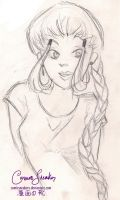 Katara Sketch by ComicSneakers