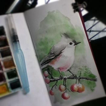 Watercolors practice - first of the day by tolagunestro