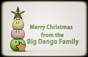 The Big Dango Family Christmas! Card by Mackingster