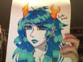 vriska on shitty paper by Anonchu