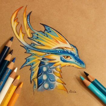 Tropical dragon by AlviaAlcedo