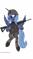 Princess Luna ROK army. by orang111