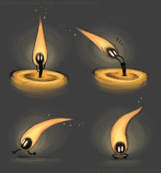Candle Flame Character Concept by PandaAGoGo