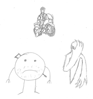 Some discarded drawings by IrateResearchers