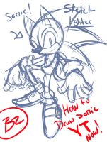 YOUTUBE - HOW TO DRAW SONIC. ( SKETCH ONLY ) by Omiza