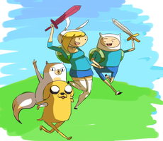 Adventure heroes by Arkel-chan