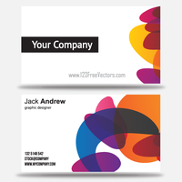 Free Colorful Business Card Templates by 123freevectors