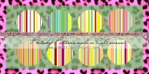 Color Stripes Photoshop patterns by Coby17