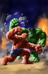 TLIID 122. Hulk vs Thing by AxelMedellin