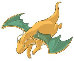 ...pogheys... Dragonite by Rainbow-Cemetery