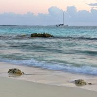 Three rocks and a boat by peterpateman