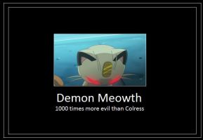 Demon Meowth Meme by 42Dannybob