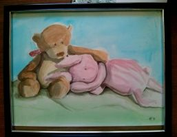 Brown Bear And Pink Bunny by kielymb