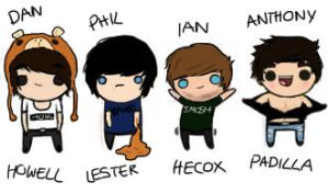 dan, phil, ian and anthony chibi! by drawingsandstuff