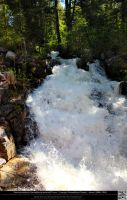 Waterfall Flowing Into the Animas River by DamselStock