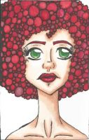 red afro by TheLuckyStarhopper