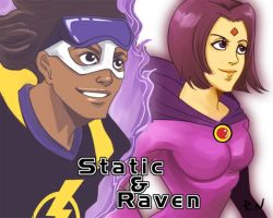 Static and Raven Commission by aixiaolai