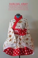 Rilakkuma Cosplay Kimono Dress by DarlingArmy