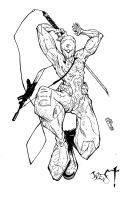 metal gear gray fox ink hi-rez by westwolf270