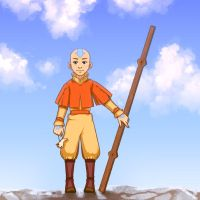 Avatar Aang - color by Beffana