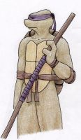 TMNT: Donatello with the Bo by GwenIala
