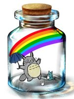 Totoro in a Bottle ^_^ by ThisNinjaGoesMoo