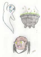 Dorm Doodle Halloween 3 by Strawberry-Wolf-1