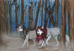 Commission: Dark forest by Lorellai-Nihil