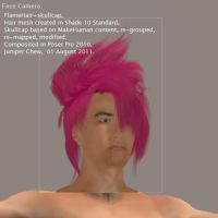 Pink Visual Kei Flame Hair 3D by ibr-remote