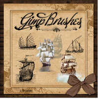 GIMP Brushes | Ship Brushes by TheAngeldove