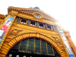 Flinders Street Station by Waitingforfuntocome